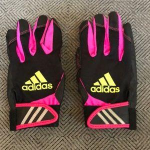 Adidas batting gloves girls M/L